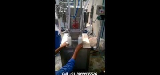 Two Head Semi Automatic Liquid Bottle Filling Machine with up-down movement