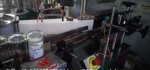 glass jar wrap around sticker labeling machine