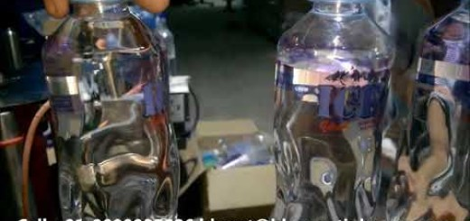 round water bottle front and back side sticker labeling machine,