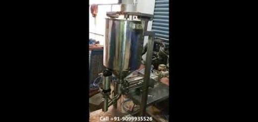 Semi Automatic Chyawanprash Jar Filling Machine