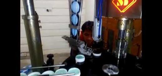 single head screw capping machine for cosmetic cream jar