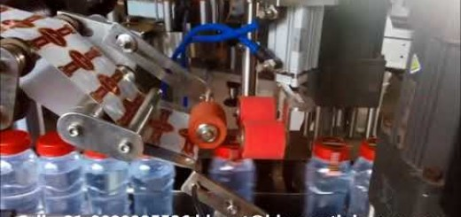 U type security label pasting machine for bottles and jars, Bottle/Jars neck labeling machine